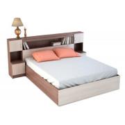 Кровать-с-закроватным-модулем-КР-552-Бася ясень шимо