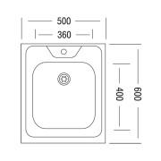 Мойка для кухни накладная AS18177 схема