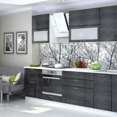 Модульная кухня «Валерия» 2,8 м (металлик черный дождь)