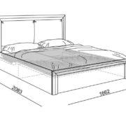 """Кровать 1,6 """"Глэдис"""" М32 с подъемным механизмом схема"""