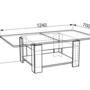 Журнальный стол Адам-1 открытый (схема)
