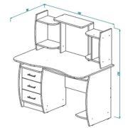Стол компьютерный СК-3 схема