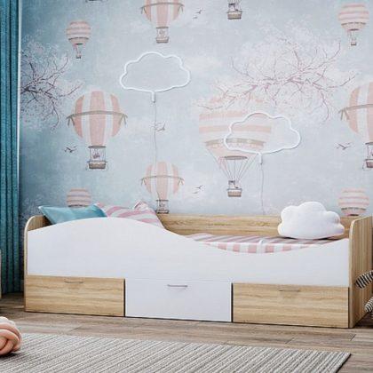 Кровать детская с ящиками Кр-3