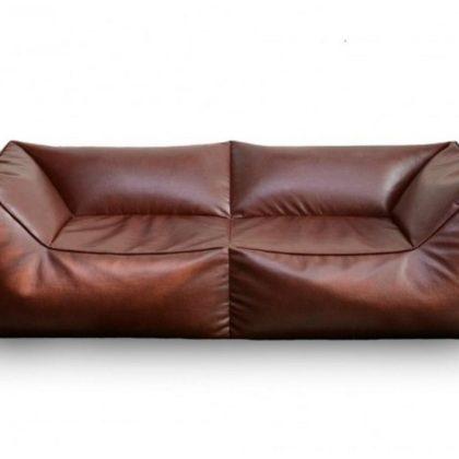 """Бескаркасный диван """"Де Люкс"""" коричневый"""