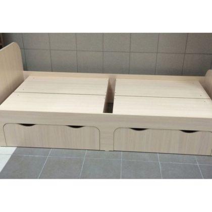 Кровать с ящиками 900 мм (дуб выбеленный)