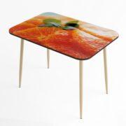 Стол обеденный (апельсин-бежевый глянец)