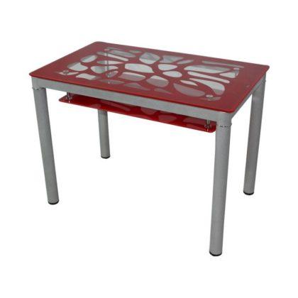Стол обеденный В 828-2 (стекло красное)