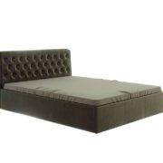 """Кровать """"Дженни"""" 1,6 м (коричневый)_пуговицы"""