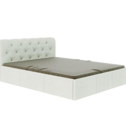 """Кровать """"Калипсо"""" 1,6 м (белый)_стразы"""