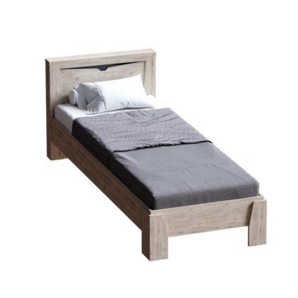 """Кровать 900 """"Соренто"""" (дуб бонифаций/кофе структурный матовый)"""