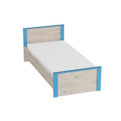 """Кровать детская """"Скаут"""" (дуб бонифаций/софт тач индиго)"""