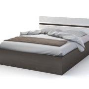 """Кровать двуспальная """"Вегас"""", венге/белый глянец"""