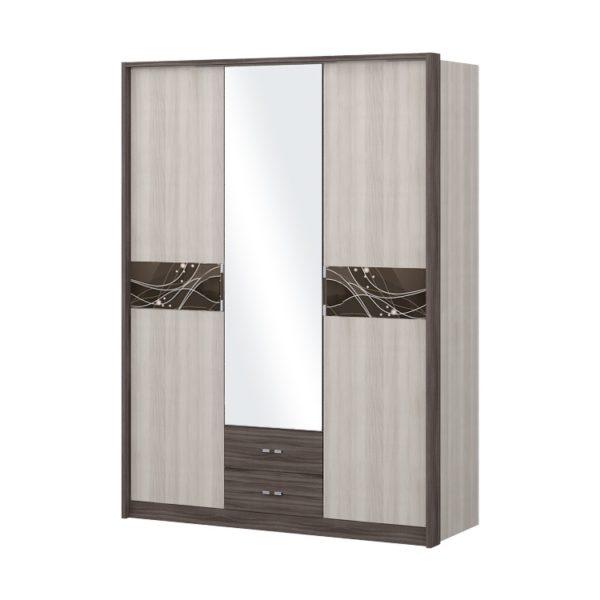 """Шкаф трехдверный с зеркалом """"Николь"""""""