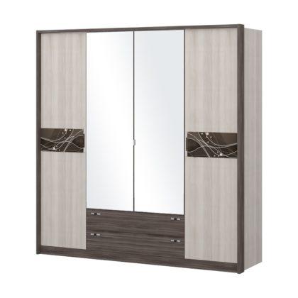 """Шкаф четырехдверный с зеркалом """"Николь"""""""