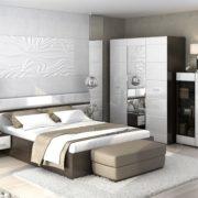 """Модульная спальня """"Вегас"""", венге/белый глянец"""