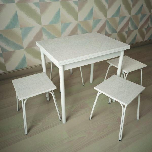 Стол раскладной СТ-22, белый лен (пластик)