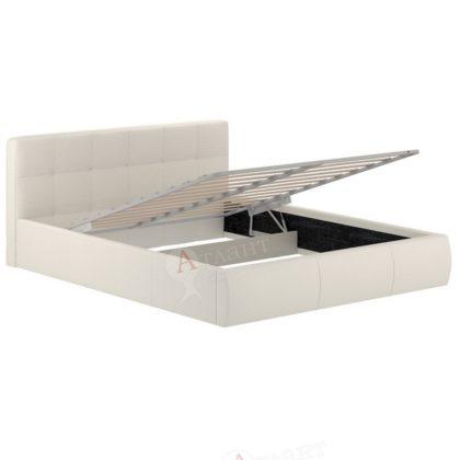 """Кровать с ящиком и подъемным ортопедическим основанием """"Оскар-73.1"""" белый"""