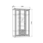 """Шкаф 3-створчатый с ящиками """"Алиса"""" схема"""