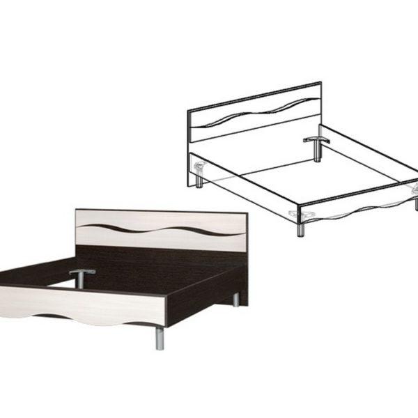 """Кровать двуспальная """"Гардония"""" 1,4 м"""