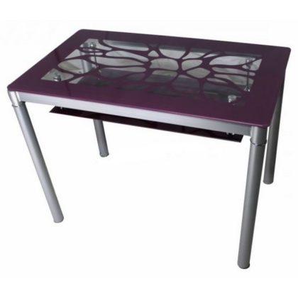Стол обеденный В 828-2 (стекло фиолетовое)
