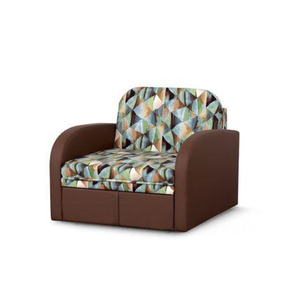 """Диван-кровать """"Кадет М"""" стандарт, вар.2 (твинкли голубой/домус шоколад)"""