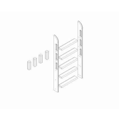 """Пакет №10 Прямая лестница и опоры для двухъярусной кровати """"Соня"""""""