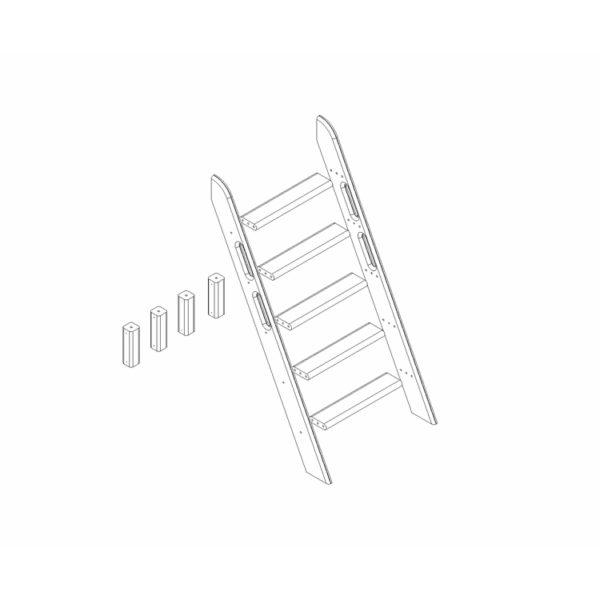 """Пакет №11 Наклонная лестница и опоры для двухъярусной кровати """"Соня"""""""