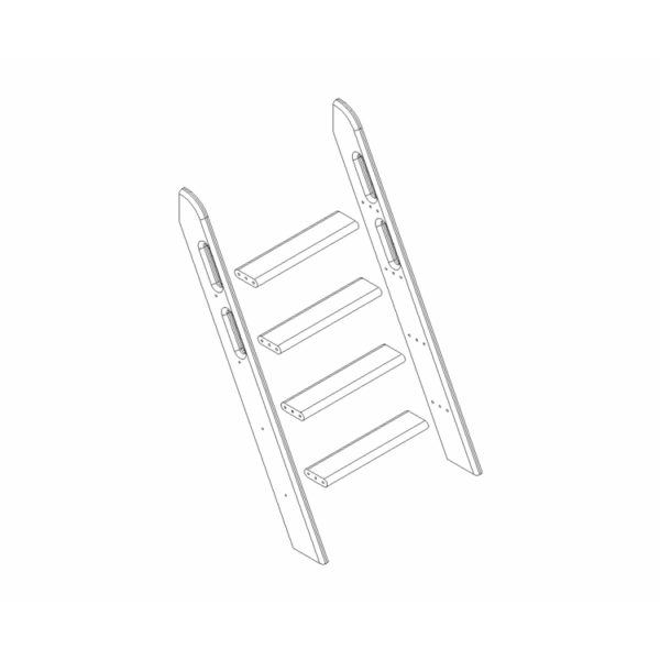 """Пакет №8 Наклонная лестница для полувысокой кровати """"Соня"""""""