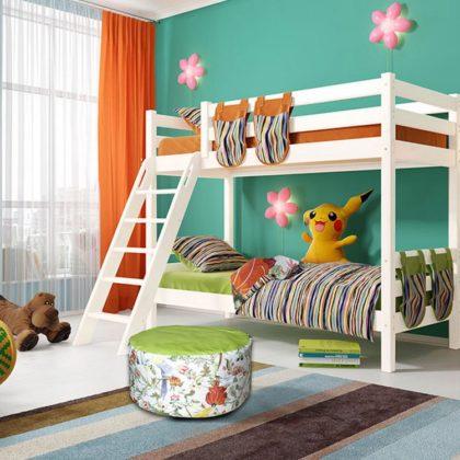 """Кровать двухъярусная """"Соня"""" (вариант 10) с наклонной лестницей"""