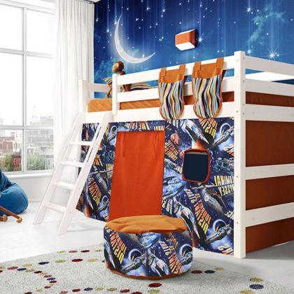 """Кровать полувысокая """"Соня"""" (вариант 6) с наклонной лестницей"""