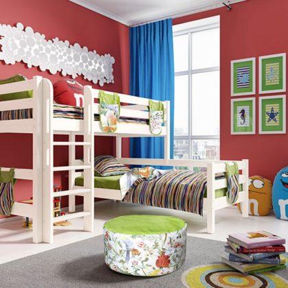 """Кровать угловая """"Соня"""" (вариант 7) с прямой лестницей"""