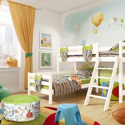 """Кровать угловая """"Соня"""" (вариант 8) с наклонной лестницей"""