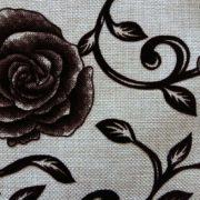 рогожка цветы