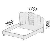 """Кровать двуспальная 1,6 м """"Версаль"""" 99.01 схема"""