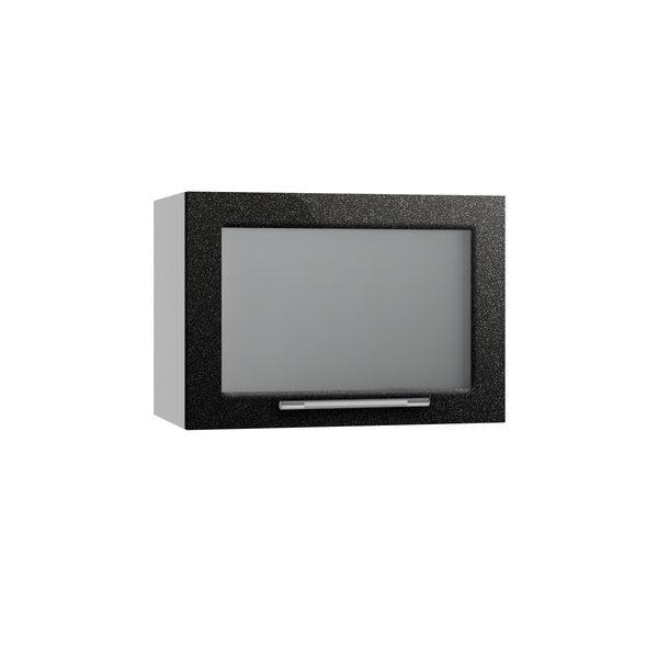 Олива ВПГС 500 Шкаф верхний горизонтальный со стеклом высокий