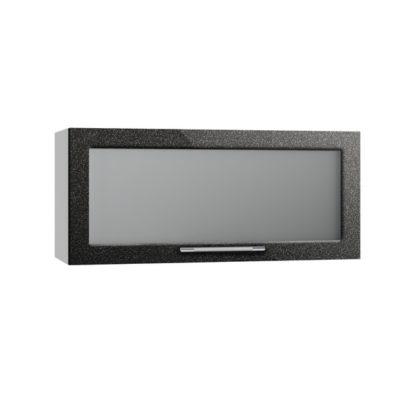 Олива ВПГС 800 Шкаф верхний горизонтальный со стеклом высокий