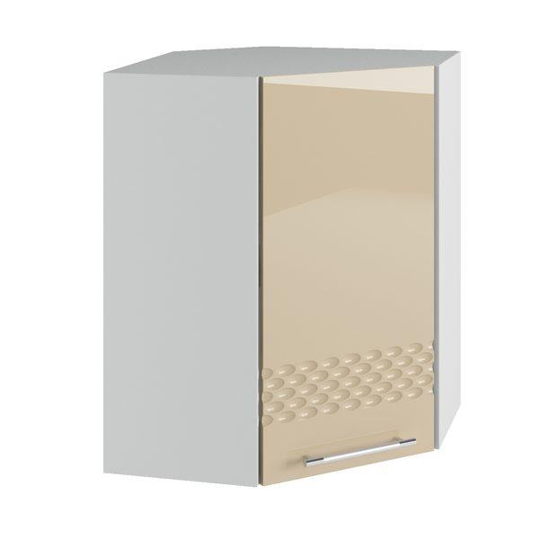 Капля ПУС 550*550 Шкаф верхний угловой, кофе с молоком