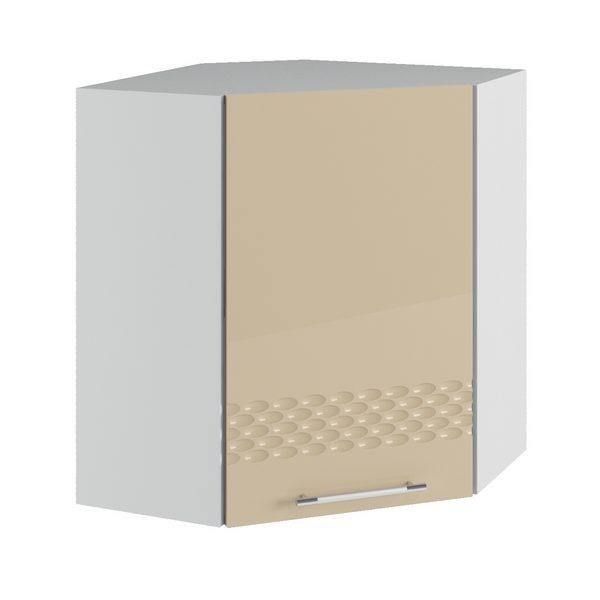 Капля ПУС 600*600 Шкаф верхний угловой, кофе с молоком