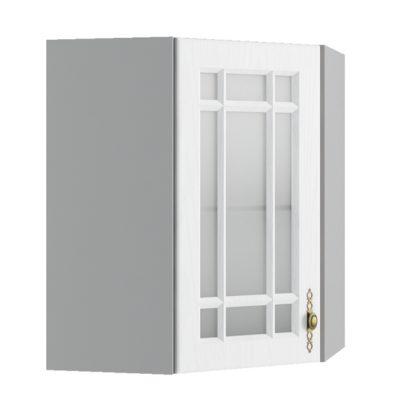 Гранд ВПУС 550*550 Шкаф верхний угловой со стеклом высокий