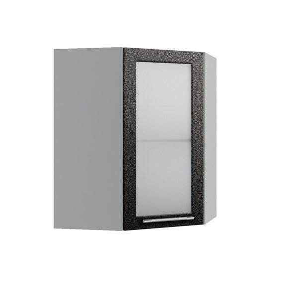Олива ПУС 550*550 Шкаф верхний угловой со стеклом
