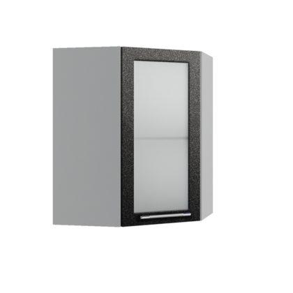 Олива ВПУС 550*550 Шкаф верхний угловой со стеклом высокий