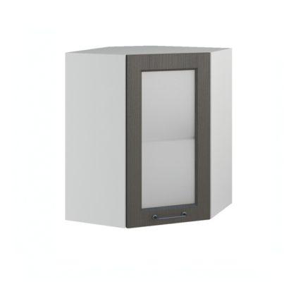 Капри ПУС 550*550 Шкаф верхний угловой со стеклом