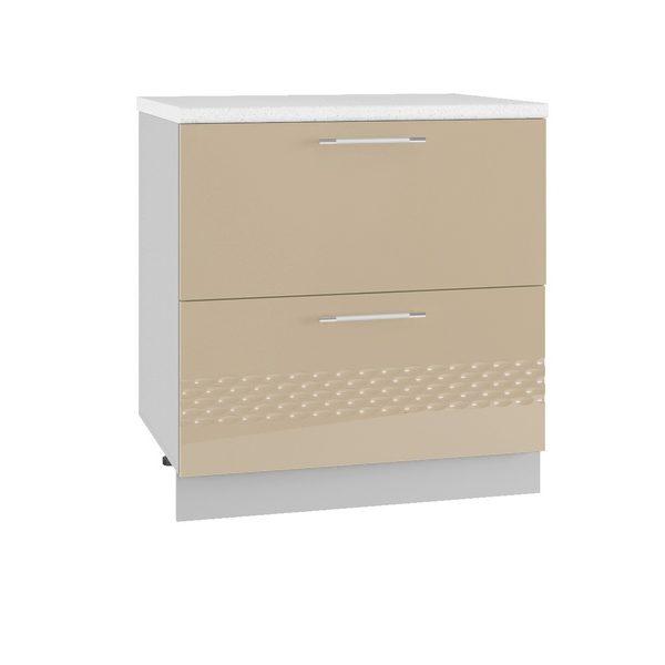 Капля СК2 800 Шкаф нижний комод с двумя ящиками