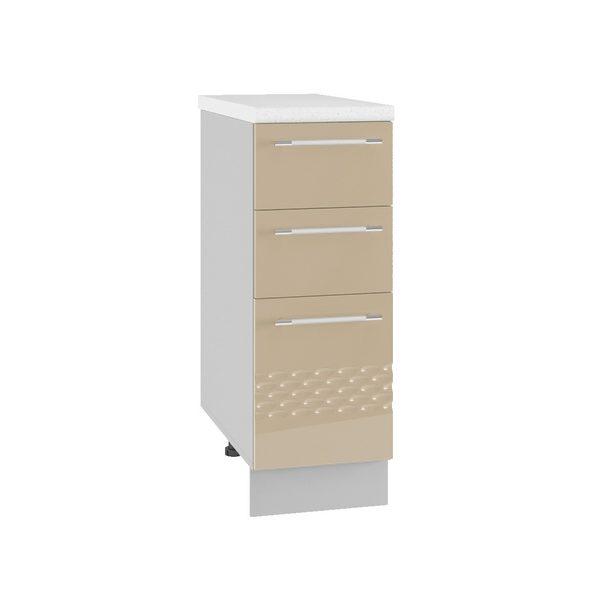 Капля СЯ 300 Шкаф нижний с тремя ящиками
