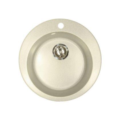 Каменная мойка AxelLux АХ10 кругл серый 310