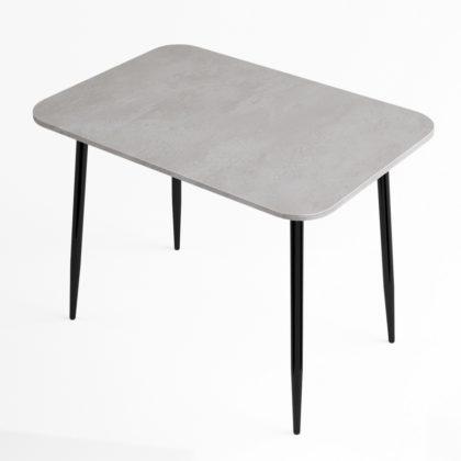 Стол обеденный (бетон-черный глянец), Стекло