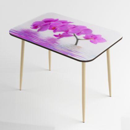 Стол обеденный (орхидея-бежевый глянец), Стекло