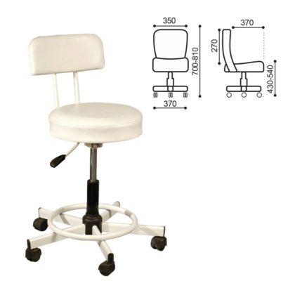 Кресло РС12, без подлокотников, кожзам, белое