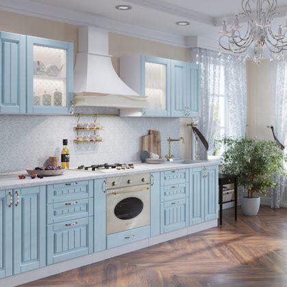 "Модульная кухня ""Прованс"" (голубая патина)"