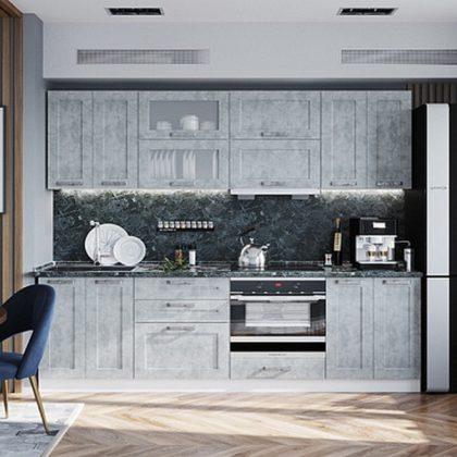 "Модульная кухня ""Лофт"" (бетон серый)"